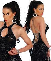 Sexy Women Clubbing Black Mini Party Dress Ladies Part Blouse Top Size 6 8 10 12