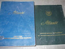 1988 Cadillac Allante Shop Service Repair Manual SET W SUPPLEMENT BOOK OEM 88