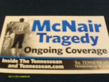 Steve McNair Nashville Tennessean Tragedy Bench Poster