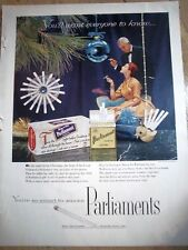 1955 PARLIMENTS CIGARETTES Night Before Christmas Ad