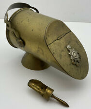 More details for royal sussex regiment artillery shell coal scuttle ornament british trench art