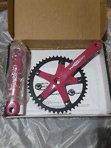 Vuelta Pista Team Fixed Gear 46T 165mm Pink Track Crankset