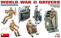 Miniart 35042 -1/35 WWII Drivers, Military Miniatures Scale Plastic Model Kit