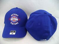 Detroit Pistons Adidas NBA Blue Structured FlexFit Hat Cap L/XL
