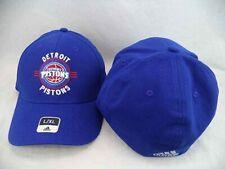 Detroit Pistons Adidas NBA Blue Structured FlexFit Hat Cap L/XL