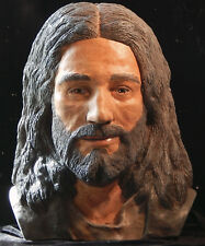 Jesus Christ Life Size Sculpture Bust   Shroud of Turin  Rendered in full Color