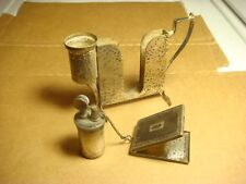 table lighter apollo combo lot art deco vintage cigarette match safe holder