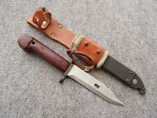 ROMANIA SPLENDID ROMANIAN COLD WAR BAYONET AND LEATHER FROG 2