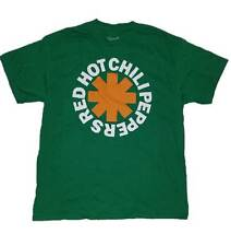 MEN'S MEDIUM RED HOT CHILI PEPPERS GRAPHIC T-SHIRT 100% COTTON, GREEN