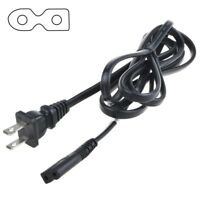 6ft Black 2 Prong Polarized Power Cord for Vizio LED TV Smart HDTV AC Wall Cable
