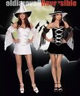 """Dreamgirl """"Which Witch"""" Reversible Costume (Black & White) Size Medium"""