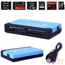 Blue 26-in-1 USB 2.0 Memory Card Reader Multi SD SDHC MMC Micro/Mini MS M2 TF XD