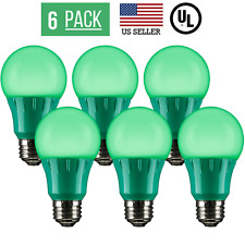 6 PACK 3W LED A15 COLORED LIGHT BULB, NON-DIMMABLE, E26 MEDIUM BASE, GREEN