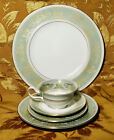 WEDGWOOD *COLUMBIA GOLD SAGE GREEN* 5-PIECE PLACE SETTING(S) ENGLAND