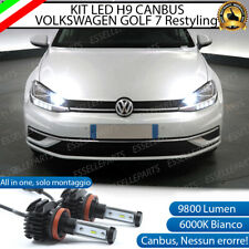 KIT FULL LED H9 VOLKSWAGEN GOLF 7 RESTYLING 6000K 9800 LUMEN CANBUS ABBAGLIANTI