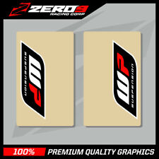 WP UPPER FORK DECALS MOTOCROSS GRAPHICS MX GRAPHICS ENDURO CLEAR