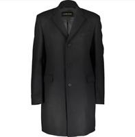 JAEGER Wool Blend Overcoat - Black - S, M, L, XL £299