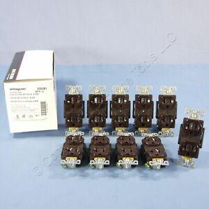 10 Cooper Arrow Hart Brown INDUSTRIAL Duplex Outlet Receptacles 5-20R 20A 5352B1