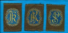 TURMAC TOBACCO WOVEN SILK ILLUSTRATED MONOGRAMS SER  B BROWN SILKS 3