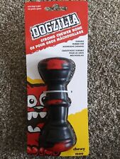 Petmate, Dogzilla Bar bell Rubber Dog Toy XL New strong chewed bone 6 in. x 3 in