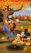 JAPANESE Noren Curtain Disney Harvest Autumn Mickey MADE IN JAPAN
