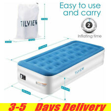 Air Bed Mattress Inflatable Sleeping Built-In Electric Pump Twin Size + Pillow