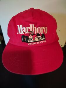 Vintage Marlboro Racing Team ' 92 Snapback Formula 1 Indy Car Hat
