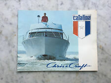 New old Dealer stock 1971 Chris Craft Catalina Boat Product Catalog not issued