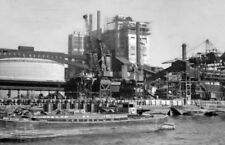 PHOTO  LONDON  TATE & LYLE CANNING TOWN SUGAR REFINERY PLANT 1955