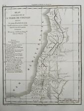 Israël 1846 Judaïca Terre de Chanaan Ruben Liban Siméon Roi d'Israel Judas