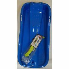 Kinder Bob Race Schlitten blau mit Bremse und Zugseil Super neu