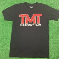 TMT THE MONEY TEAM OFFICIAL T SHIRT MAYWEATHER BLACK RED - SIZE MEDIUM
