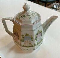 Lenox Village 1995 Porcelain Coffeepot NWOT Handcrafted in Japan