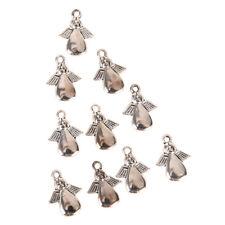 50PCS Bulk Lots Tibetan Silver Angel Pendants Charms DIY Jewelry Findings Craft^