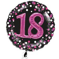XXL BALLON mt 3D Effekt Glitzer-Folieballon Set zum 18. Geburtstag