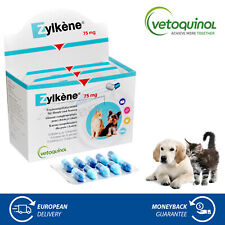 Vetoquinol Zylkene 75mg for Dogs & Cats Stress Anxiety Relief Food Supplement
