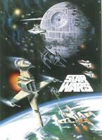 Star Wars Poster Space Battle - Todesstern X-Wings TIE Fighter - 69,9 x 96,3 cm