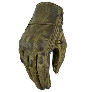Motorrad Sommer Handschuhe Biker MotorradHandschuhe Herren Cafe Racer Handschuhe