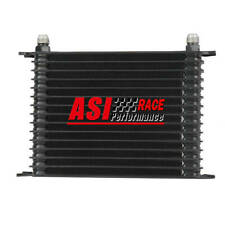 Universal Aluminum Black 15Row 10AN Racing engine Transmission Oil Cooler ,ASI