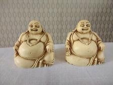 Pair of Laughing Happy Buddhas Buddha Figurine