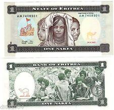 ERITREA ERYTHREE Billet 1 NAKFA 1997 ENFANTS NEUF UNC