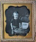 1/6 Plate Daguerreotype of Young Boy w/Open Book