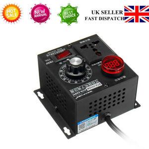UK`AC 220V 4000W Variable Voltage Regulator Speed Motor Fan Control Controller