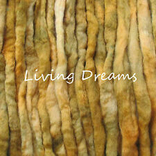 Spin Felting hand dyed Old Gold Top Wool Roving Craft Fiber Needle Soap Wet
