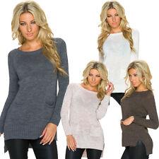 Damen-Pullover & Mittel mit Hüftlang und Acryl ohne Muster