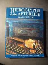 Hieroglyphs and the Afterlife in Ancient Egypt by Stephen Quirke (1996, Hardc...