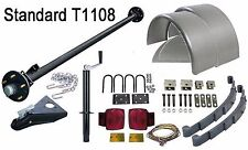 "Utility Trailer Parts Kit - 3.5K Trailer Axle - 73"" HF/58"" SC - Model T1108 S"
