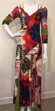 Anthropologie Dress Maxi Dress By Didier Parakian Multi Colors Sz 12  $440+
