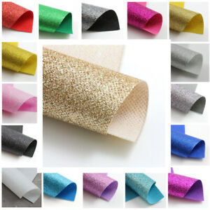FINE GLITTER FABRIC SHEETS SPARKLE MATERIAL CRAFTS SHIMMER HAIR BOWS  UK