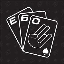 Cartas juego E60 - JDM Pegatina , Shocker Fun Pegatina, BMW, Stickerbomb, M3, M5